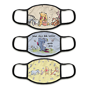 """3 """"Winnie The Pooh"""" Face Masks With Character Artwork"""