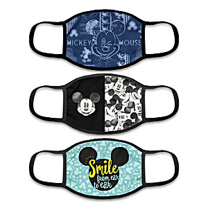 """3 """"Mickey Mouse All Ears"""" Face Masks With Character Artwork"""