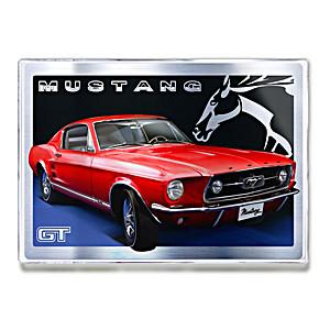 1967 Ford Mustang GT Fastback Metal Art Print Wall Decor