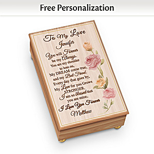 """""""To My Love"""" Personalized Wooden Music Box"""