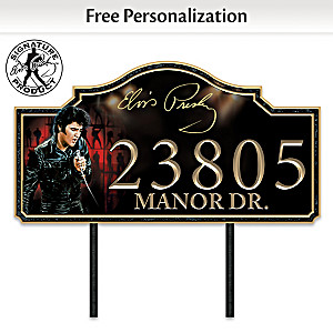 Elvis Presley Personalized Outdoor Address Sign