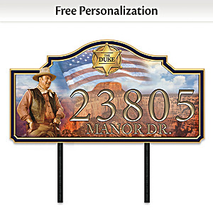"""John Wayne: Western Welcome"" Personalized Address Sign"