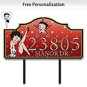 Betty Boop Personalized Outdoor Address Sign