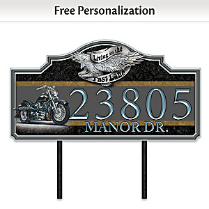 """Marc Lacourciere """"Ready To Ride"""" Personalized Address Sign"""