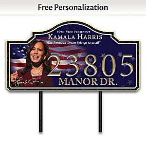 Kamala Harris Personalized Outdoor Address Sign