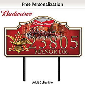 Budweiser Personalized Outdoor Address Sign