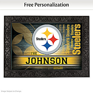 Pittsburgh Steelers Personalized Welcome Mat