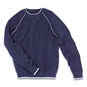 Washable Cashmere Men's Blue Sweatshirt