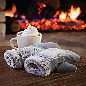 Sherpa Lined Mittens With Built-In Heating Elements