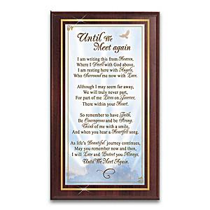 Until We Meet Again Poem Plaque With Metal Art Plate