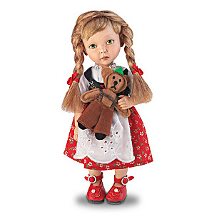 "Dianna Effner ""Heidi"" Child Doll in German-Style Outfit"