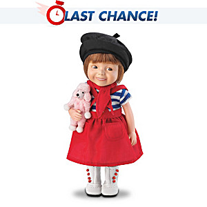 "Dianna Effner ""Monique"" Child Doll in French-Style Outfit"