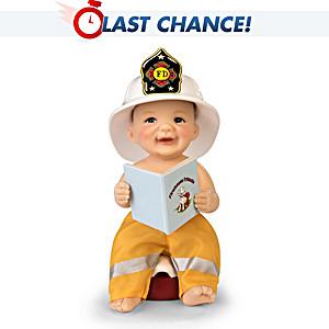 "Cheryl Hill ""False Alarm"" Miniature Fireman Baby Doll"