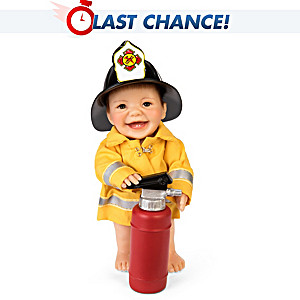 "Cheryl Hill ""Always On A Call"" Miniature Fireman Baby Doll"