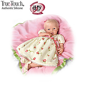 Lily Rose Silicone Baby Doll With 7-Piece Layette Set