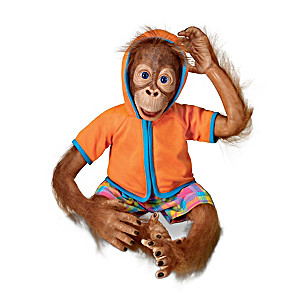 "Simon Laurens Lifelike ""Jollie"" Orangutan Child Doll"