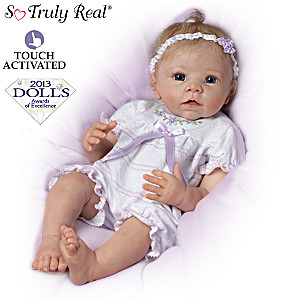 Touch-Activated Lifelike Moving Baby Doll By Linda Murray