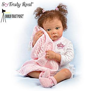 "Waltraud Hanl ""Sweet Princess"" Poseable Baby Girl Doll"