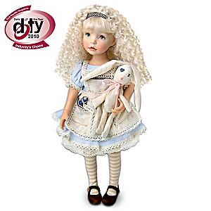 "Dianna Effner Poseable ""Alice In Wonderland"" Alice Doll"
