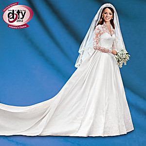 Kate Middleton Commemorative Porcelain Bride Doll