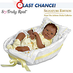 Signature Edition African-American Baby Doll With Bassinet