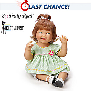 "Bonnie Chyle ""Lily"" Poseable Lifelike Baby Girl Doll"