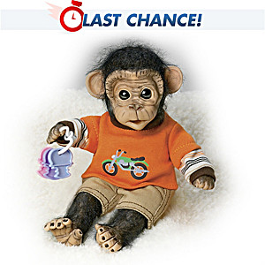 """Cindy Sales """"Cosmo's Day of Play"""" Lifelike Monkey Doll"""