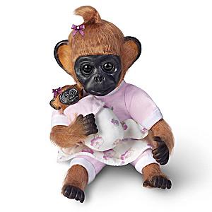 "Cindy Sales ""Gertie Plays Mommy"" Lifelike Monkey Doll"