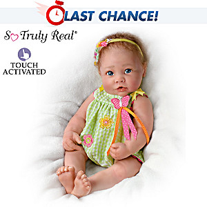 Touch-Activated Lifelike Baby Doll By Linda Murray