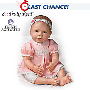 Lifelike Baby Girl Doll Moves And Coos When Touched