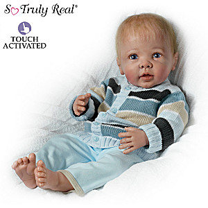 Lifelike Baby Boy Doll Moves And Coos When Touched