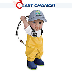 "Fisherman ""Reel Cute"" Toddler Boy Doll By Cheryl Hill"