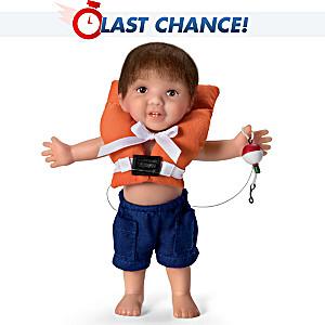 "Fisherman ""Reel Cute"" Toddler Boy Doll By Cheryl Hill"