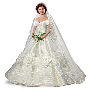 Commemorative bride doll jacqueline kennedy jacqueline kennedy bisque porcelain poseable bride doll junglespirit Image collections