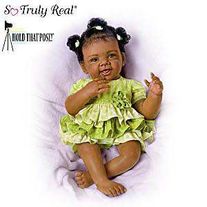 """""""Alexis"""" Poseable Baby Doll By Waltraud Hanl"""
