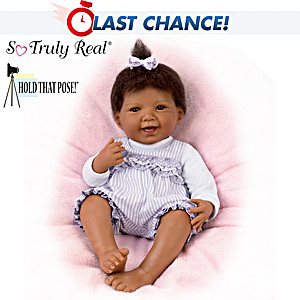 """Jordan"" Poseable Baby Doll By Waltraud Hanl"