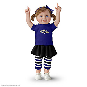NFL-Licensed Baltimore Ravens Fan Girl Doll