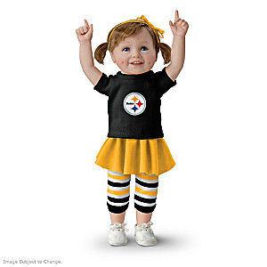 NFL-Licensed Pittsburgh Steelers Fan Girl Doll