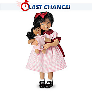 "Mayra Garza ""Aisha"" Poseable Doll With FREE Dolly"
