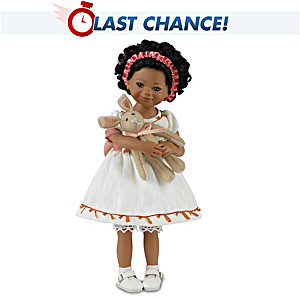 "Mayra Garza ""Shaniqua And Her Bunny"" Poseable Child Doll"