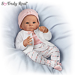 Little Peanut Lifelike Poseable Baby Doll With Extra Outfit