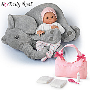 Little Peanut Deluxe Set With Outfit, Diaper Bag And Plush