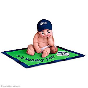 Seattle Seahawks Miniature Baby Doll