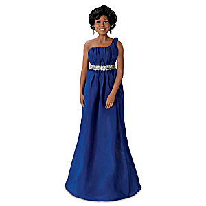 """Michelle Obama State Dinner"" Poseable Portrait Doll"