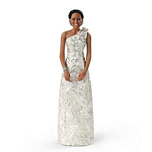 Michelle Obama Inaugural Ball Commemorative Portrait Doll