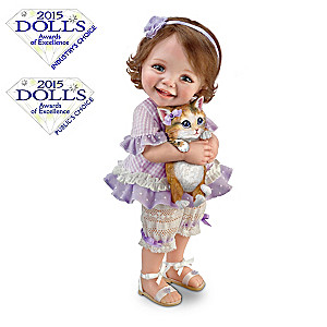 "Jane Bradbury ""Welcome Home, Kitty"" Poseable Child Doll"