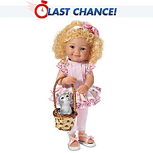 "Jane Bradbury ""Love Is A Four Legged Friend"" Child Doll"