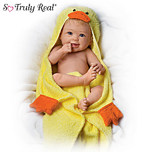 "Linda Murray ""Rub-A-Dub-Dub"" Baby Doll With Bath Accessories"