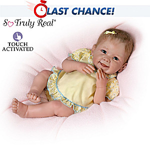 """Tummy Tickles"" Touch-Activated Baby Doll By Linda Murray"