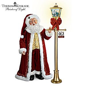 """Thomas Kinkade """"Countdown To Christmas"""" Santa Doll"""